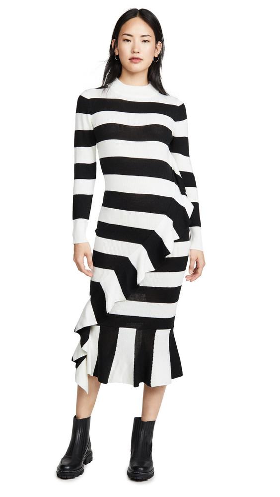PAPER London Cover Dress in black / white