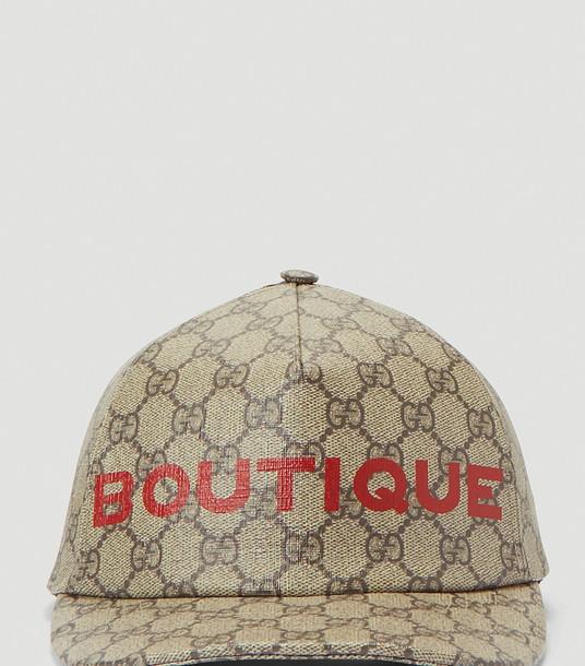 Gucci Hats Women - Boutique Print Baseball Cap Brown 100% Cotton. Dry clean. M
