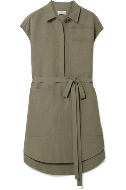 Co - Woven Tunic - Army green