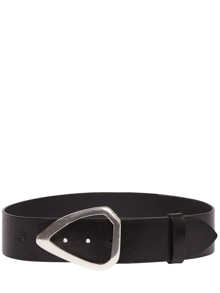 ISABEL MARANT 45mm Indiani Leather Belt in black