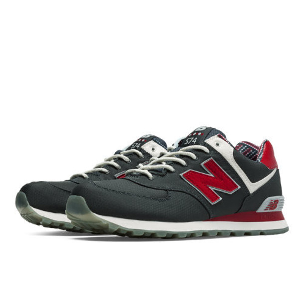 New Balance 574 Street Beat Men's 574 Shoes - Dark Grey, Red, White (ML574SBD)