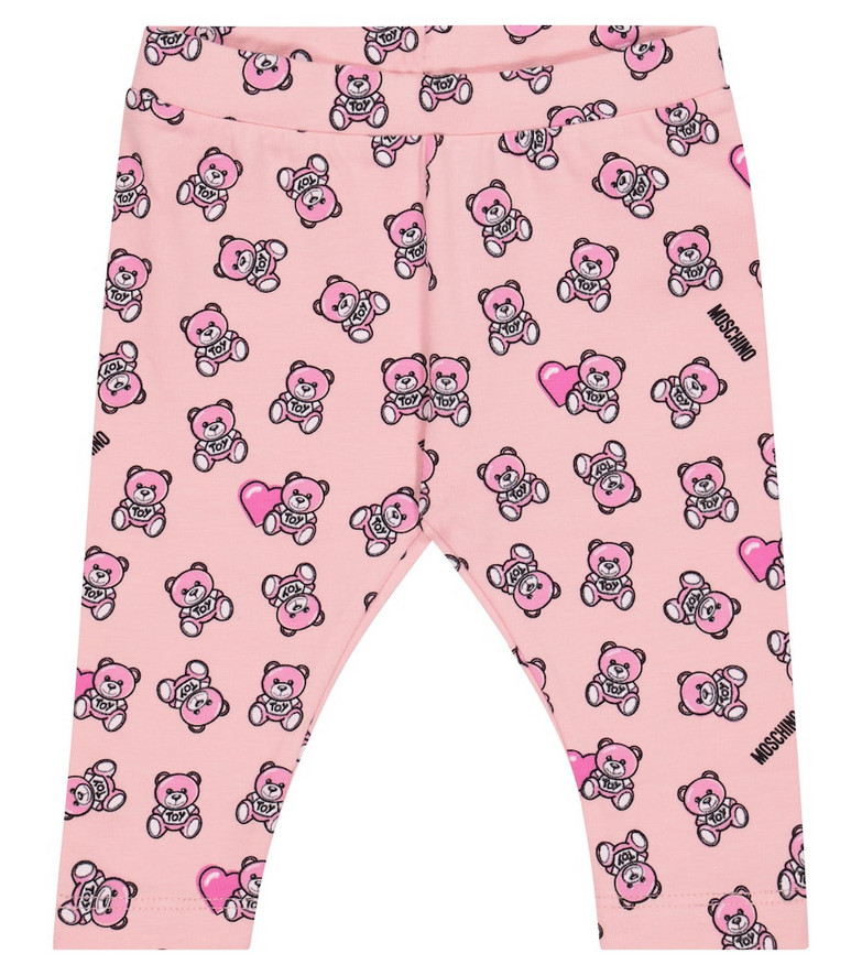 Moschino Kids Baby stretch-cotton leggings in pink