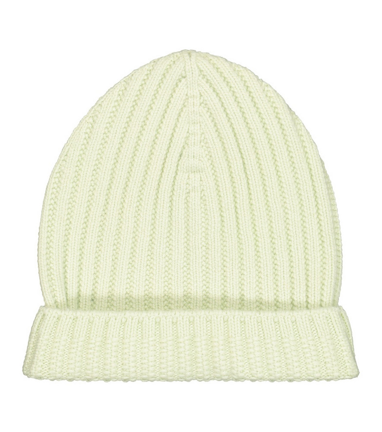 Barrie Ribbed-knit cashmere beanie in green