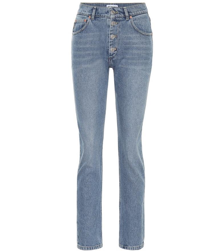 Balenciaga High-rise slim jeans in blue