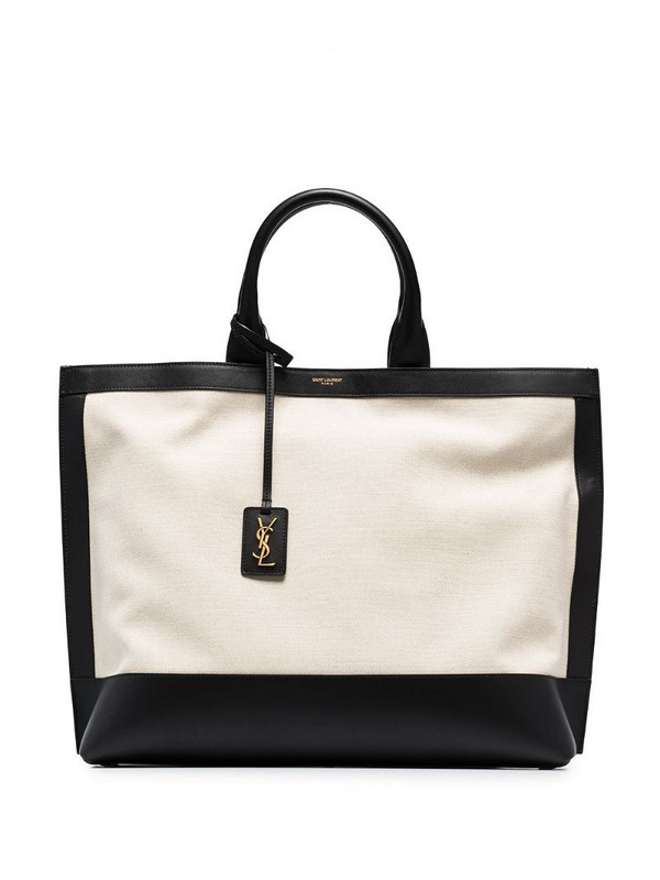 Saint Laurent Cabas two-tone tote bag in neutrals