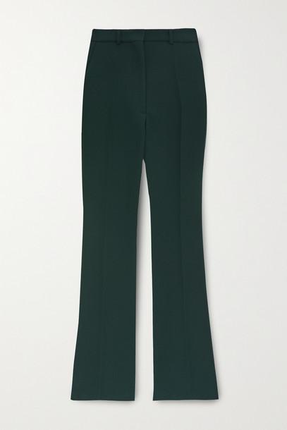 VICTORIA BECKHAM - Wool-gabardine Straight-leg Pants - Green
