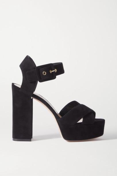 Nicholas Kirkwood - Essential Suede Platform Sandals - Black