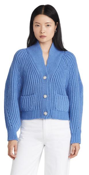 pushBUTTON Blue Gem Button Cardigan