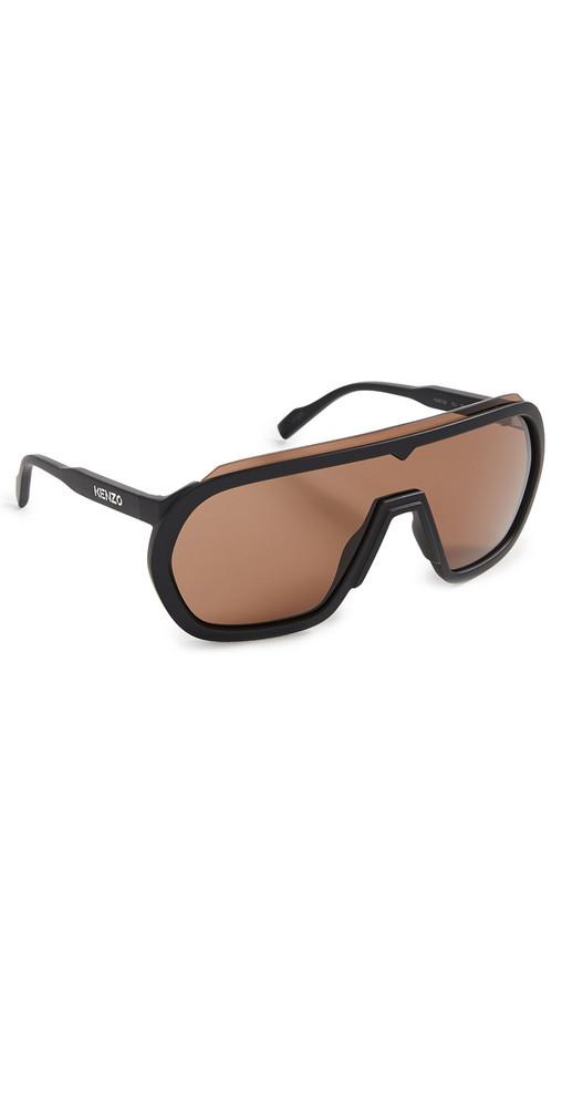KENZO Kenzo Sunglasses in black / brown