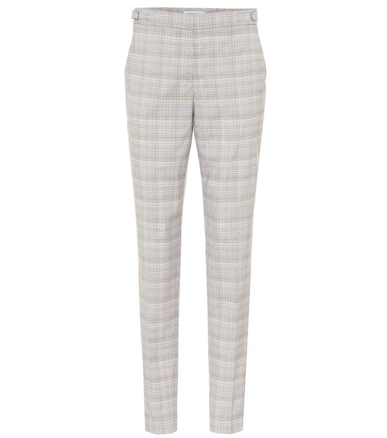 Gabriela Hearst Lisa high-rise stretch-wool pants in grey