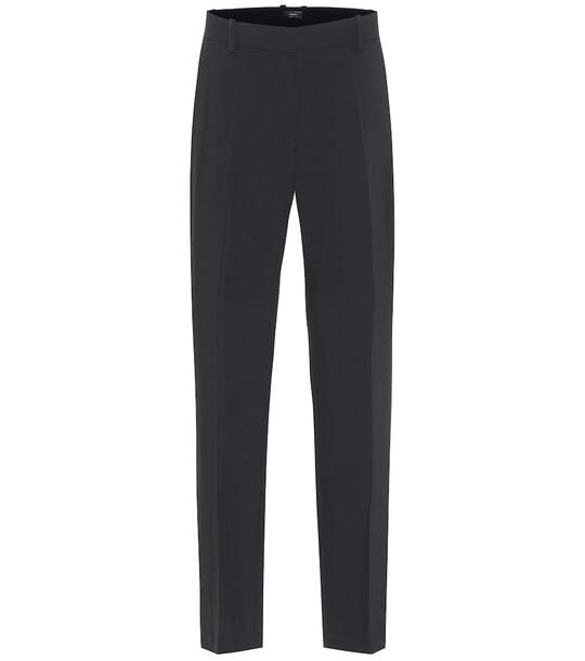 Joseph Coleman straight-leg cady pants in black