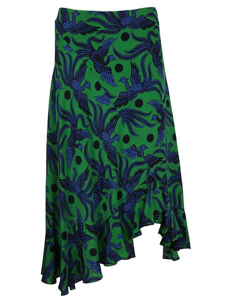 Kenzo Flying Phoenix Skirt in green