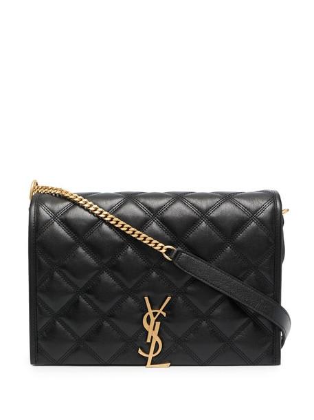 Saint Laurent Becky diamond-quilt shoulder bag in black