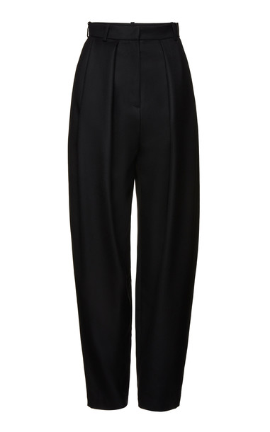 Magda Butrym Shaldon Wool-Twill Tapered Pants Size: 38 in black