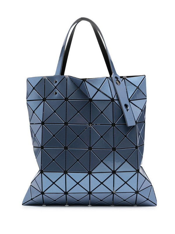Issey Miyake Lucent metallic-effect tote bag in blue