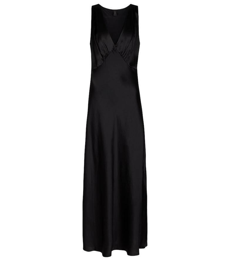 SIR Editta silk satin dress in black