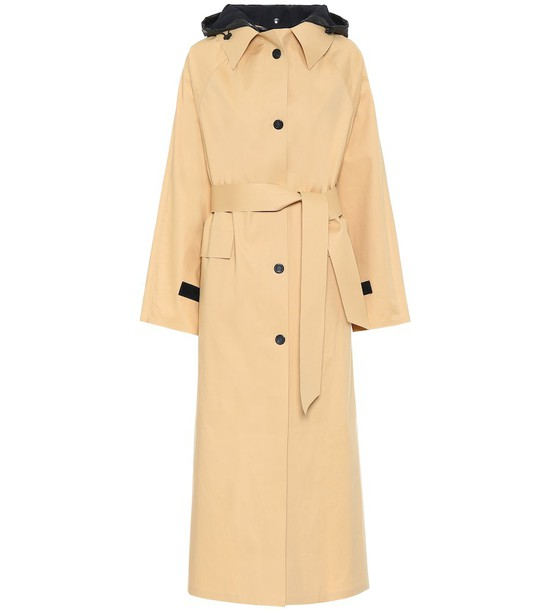 KASSL Editions Hooded trench coat in beige