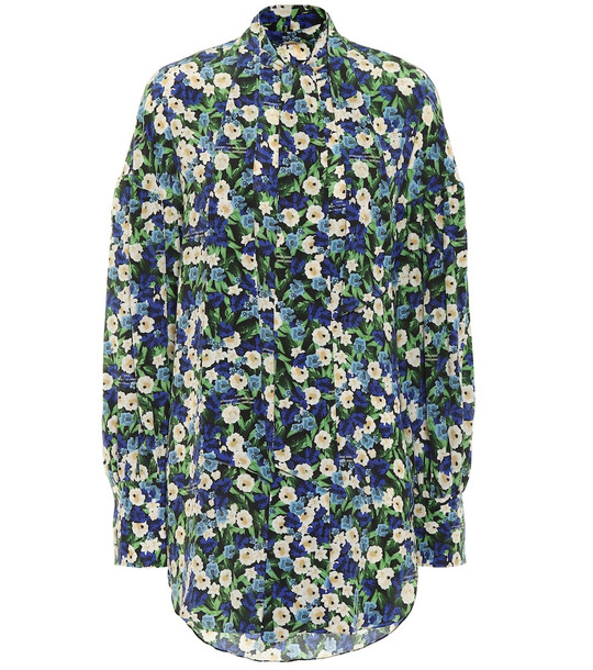 Rokh Floral silk blouse