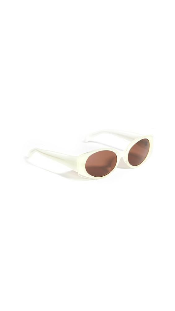 Linda Farrow Luxe Matthew Williamson x Linda Farrow Bluebe Sunglasses in brown / gold / white / yellow