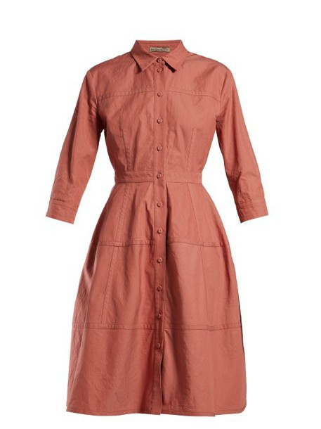 Bottega Veneta - Cotton Canvas Shirtdress - Womens - Pink