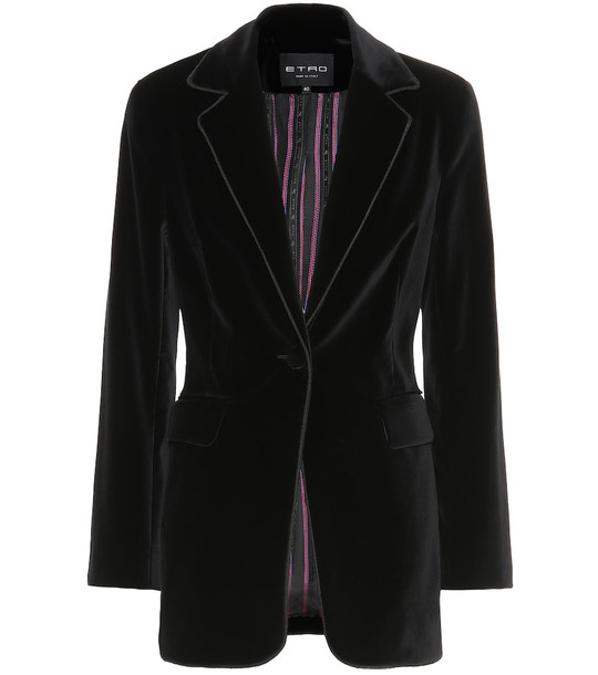 Etro Velvet blazer in black