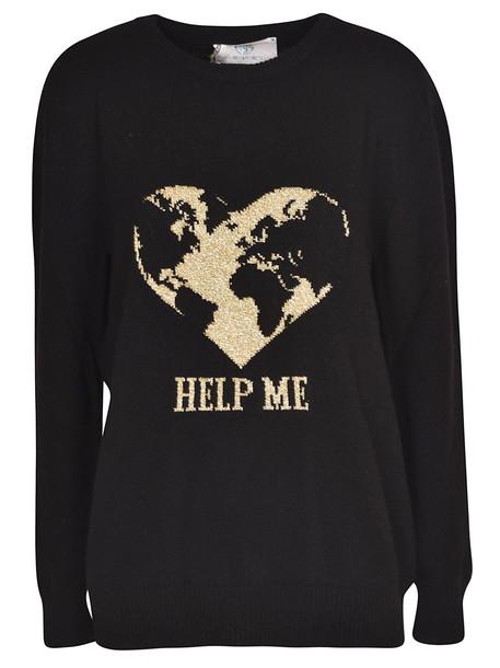 Alberta Ferretti Help Me Sweater in nero