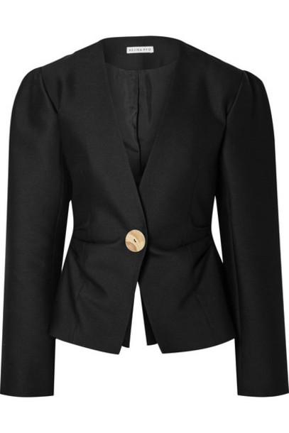 REJINA PYO - Peyton Wool And Silk-blend Blazer - Black