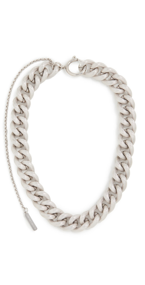 Justine Clenquet Thelma Choker Necklace in silver
