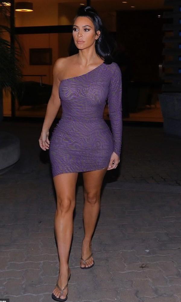 shoes lilac kim kardashian kardashians bodycon dress one shoulder dress purple dress mini dress