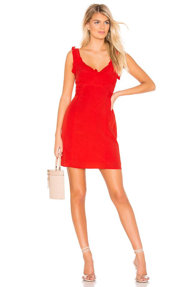 Line & Dot Karla Dress in red