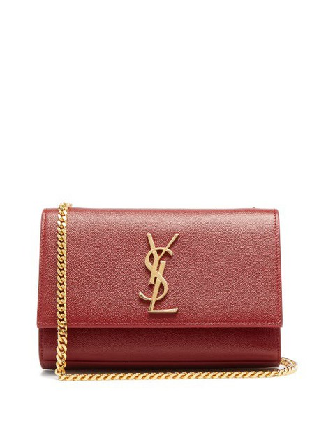 Saint Laurent - Kate Small Grained Leather Shoulder Bag - Womens - Red