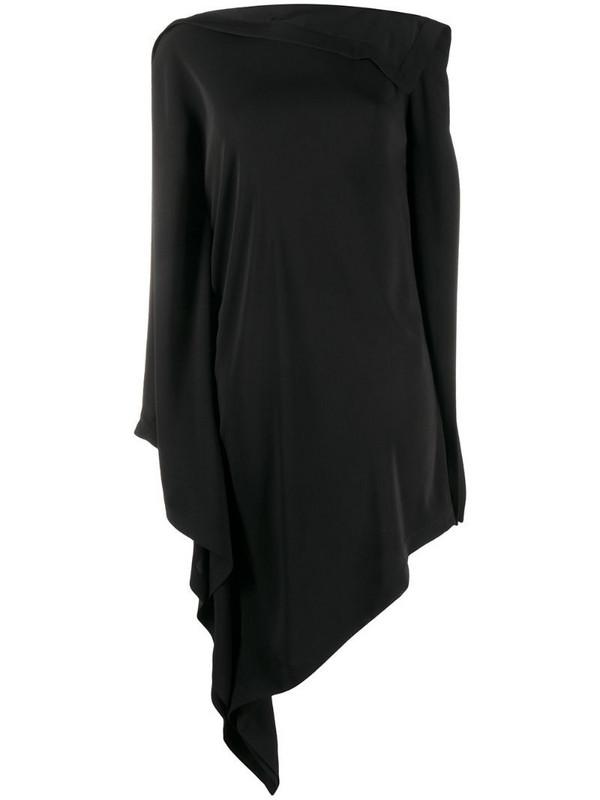 MM6 Maison Margiela asymmetric structured dress in black