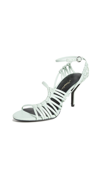 3.1 Phillip Lim 75mm Lily Strappy Sandals in green