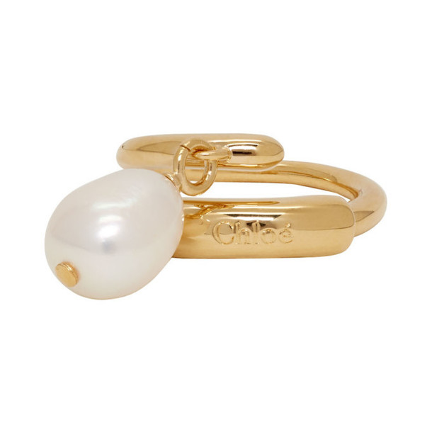 Chloe Gold Pearl Ring
