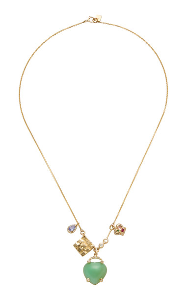 SCOSHA Lucky Charms 14K Gold And Multi-Stone Necklace