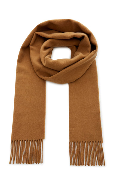 Toteme Bova Fringed Wool-Blend Scarf in brown
