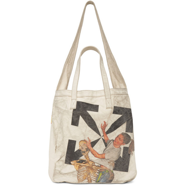 Off-White Off-White Pascal Vintage Tote in beige
