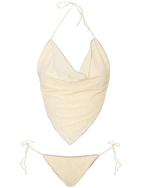 OSÉREE SWIMWEAR Shine Bandana Two Piece Bikini Set in yellow