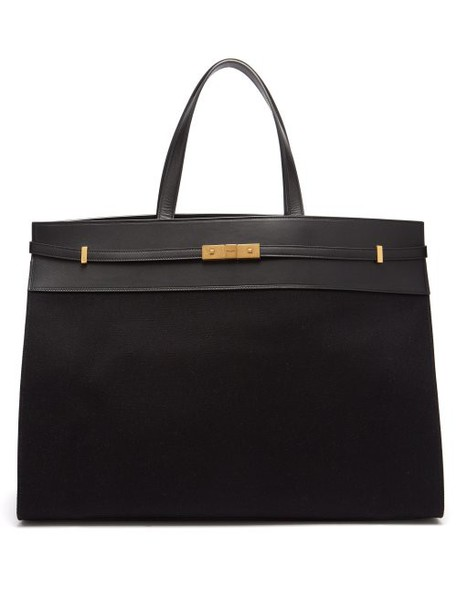Saint Laurent - Manhattan Large Canvas Tote Bag - Womens - Black
