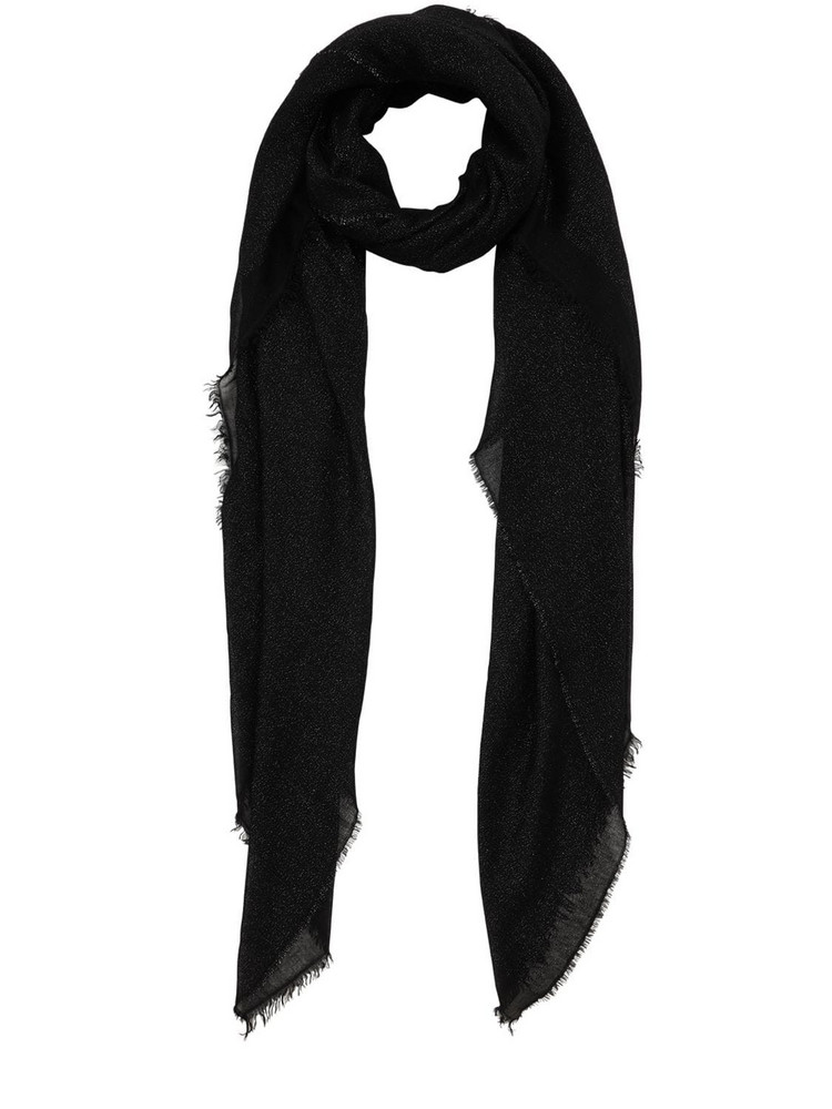 FALIERO SARTI Venusia Modal & Mohair Blend Scarf in black