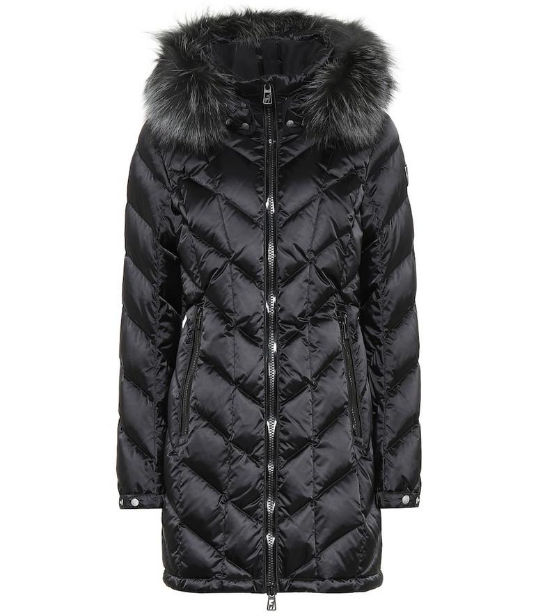 Toni Sailer Rebecca fur-trimmed down coat in black