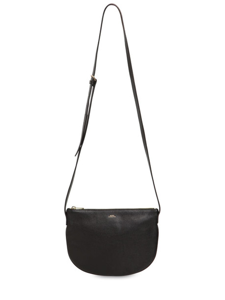 A.P.C. Sac Maelys Smooth Leather Shoulder Bag in black