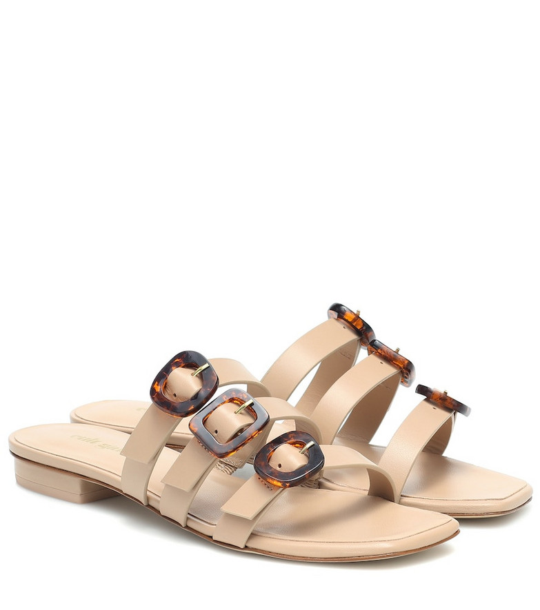 Cult Gaia Tallulah leather sandals in beige