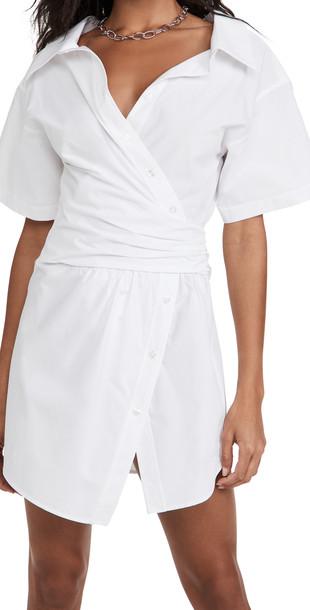 alexanderwang.t Button Down Shirtdress in white