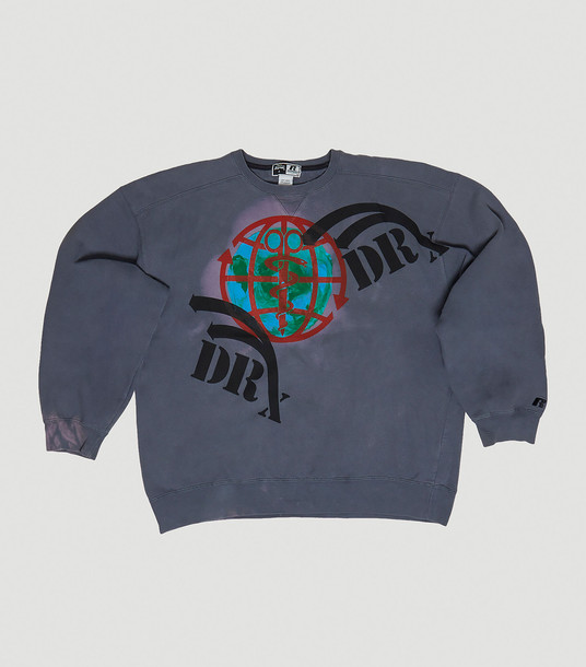 DRx Romanelli Sweatshirts Women - RxCYCLE Earth Day Upcycled Sweatshirt Grey 100% Cotton. Dry clean. XL