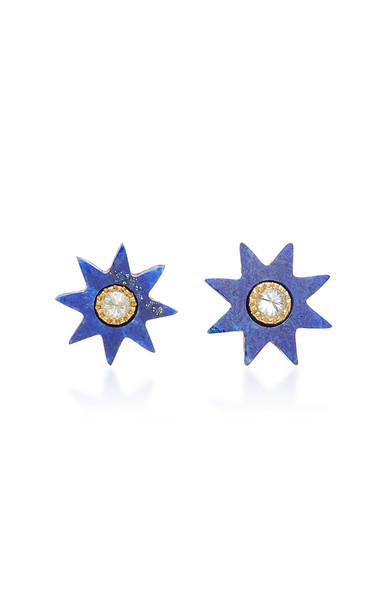 Colette Jewelry Star 18K Gold Lapis Earrings in blue