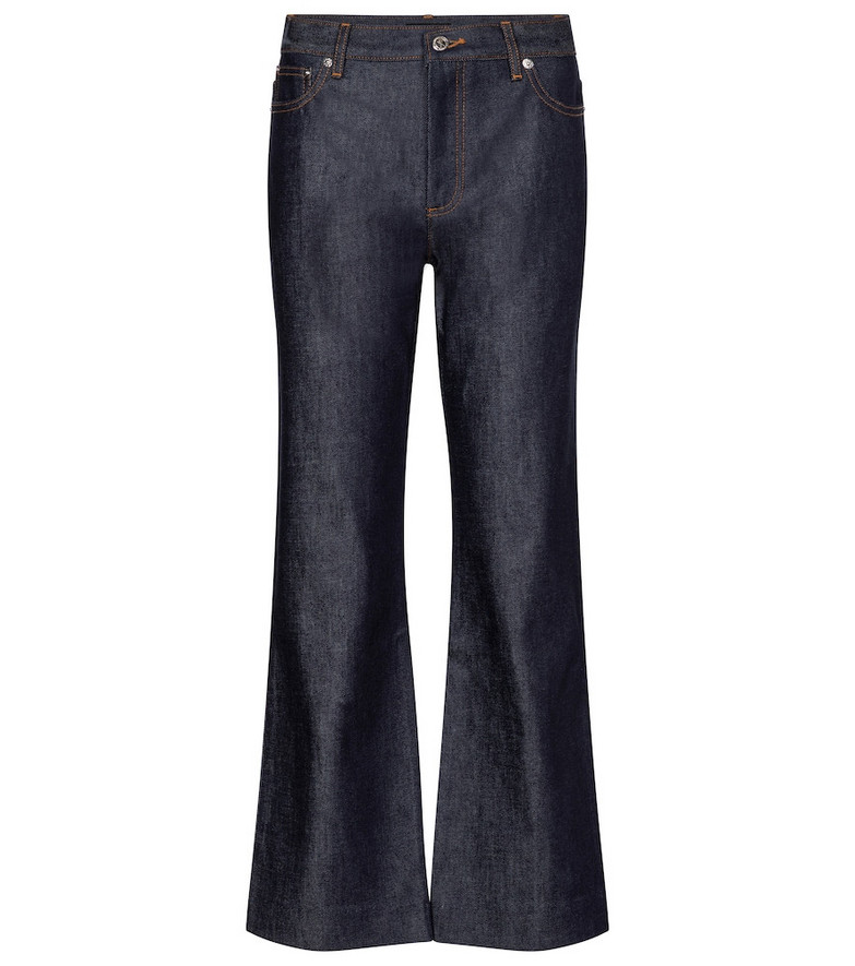 A.P.C. Sailor high-rise wide-leg jeans in blue