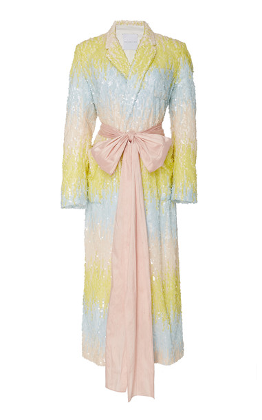 Markarian M'O Exclusive George Ombre Sequin Coat Dress in multi