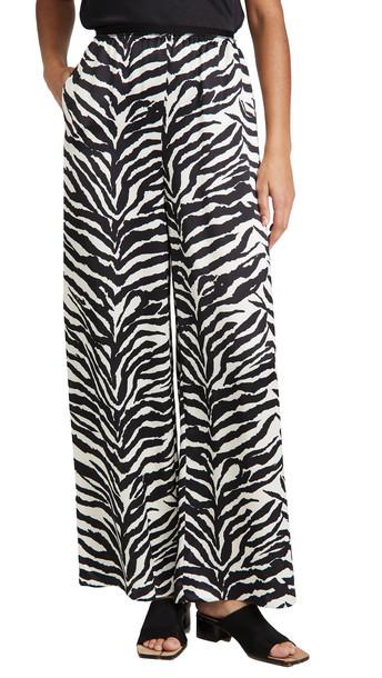MM6 Maison Margiela Zebra Pants in black / white