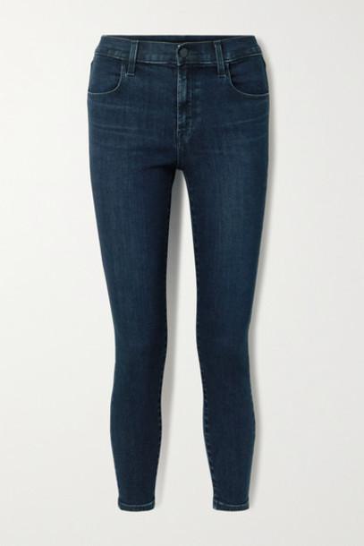 J Brand - Alana Cropped High-rise Skinny Jeans - Dark denim